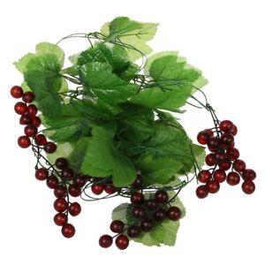2x Artificial Grape Vine Garland Fruit for Home Garden Decoration N8E4