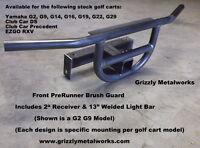"""GOLF CART EZGO RXV PRERUNNER FRONT BRUSH GUARD & 2"""" RECEIVER & LIGHT BAR"""