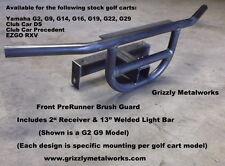 """GOLF CART CLUB CAR DS PRERUNNER FRONT BRUSH GUARD & 2"""" RECEIVER & LIGHT BAR"""