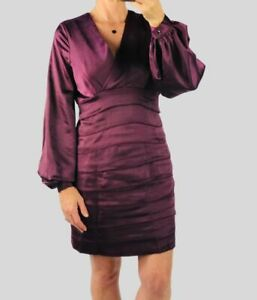 Coast NWT Womens Purple Layered Cocktail Party Satin Shutter Dress RRP £129