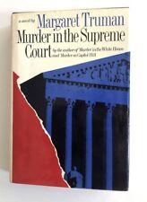 MARGARET TRUMAN Murder In The Supreme Court SIGNED FIRST ED DJ HC FECC bookmark