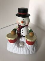 Chain Fong Snowman Animated Playing The Drums 4 Christmas Carol SEE VIDEO Posted