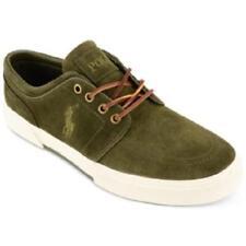 Polo Ralph Lauren Men s Faxon Low Sz US 12 D Green Suede SNEAKERS Shoes 68f5dc79520