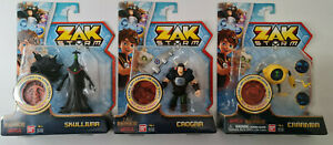 Zak Storm 3 Inch Action Figures - Skullivar - Crogar - Carrmba Bandai Toys