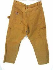 Wrangler Work Gear Pants SZ 32x32 Mens Brown Carpenter Cargo Wear Handyman Fixit
