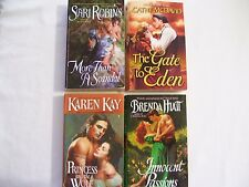 """Lot of 4 Historical Romance Books """"Innocent Passions"""", """"The Gate to Eden"""",  + 2"""