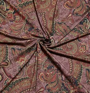 """Jersey Lycra Fabric Paisley Printed 55"""" Wide Sold By The Metre"""