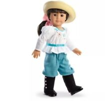 American Girl Samantha's Bicycling Outfit NIB Nellie Straw Hat Hairbow NO DOLL