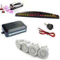 4 Parking Sensor Car Rear View Reverse Backup Radar System Sound Alert Alarm Kit