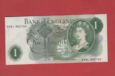 ONE POUND £1 FFORDE 1967 PREFIX  [R69L 882792] REPLACEMENT NOTE UNCIRCULATED