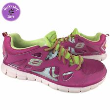 Skechers Sport Memory Foam Plus Women's Shoes Pink & Yellow Size 8.5