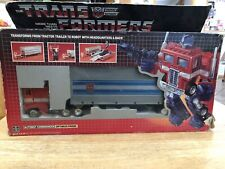 Transformers G1 OPTIMUS PRIME WITH BOX Vintage 1984 VHTF PRE RUB STICKER