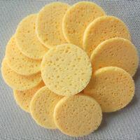 40/50x Natural Wood Pulp Sponge Facial Wash Cleaning Puff Facial Washing Sponge