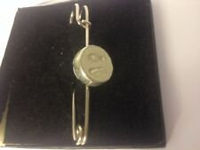 """Confused Emoji Tg402 Pewter Scarf and Kilt Pin Pewter 3"""" 7.5 cm"""