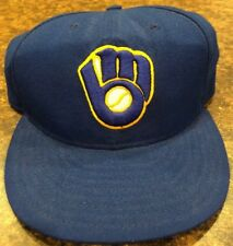 Milwaukee Brewers MLB New Era Size 7 5 8 Fitted Hat 9 Fifty Authentic Blue 3d268e98c59f