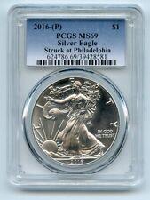 2016 (P) $1 American Silver Eagle 1oz Dollar PCGS MS69 Struck in Philadelphia
