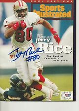 JERRY RICE (49ers) Signed SPORTS ILLUSTRATED with PSA COA (NO Label)