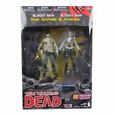 Walking Dead Rick Grimes and Andrea Action Figure 2-Pack Previews Exclusive