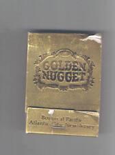 Golden Nugget Hotel Casino Gold Matchbook Atlantic City New Jersey