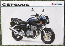 SUZUKI GSF 600 S MOTORCYCLE SALES SHEET NOVEMBER 1998