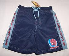 Spiderman Boys Blue Printed Swim Board Shorts Size 6 New