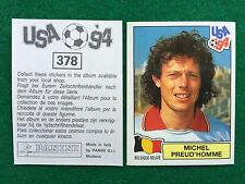 USA 94 1994 n 378 MICHEL PREUD'HOMME BELGIO BELGIQUE Figurina Sticker Panini NEW