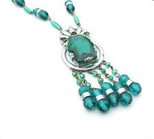 Art Deco Necklace Necklace Green Vintage Czech