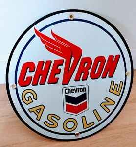 Chevron Gas Oil gasoline sign ... free ship on any 8 signs