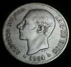 5 pesetas plata Alfonso XII 1884 MS.M.