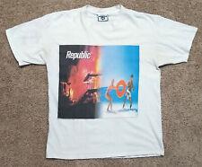 Vintage 90s New Order REPUBLIC Tour 1993 Shirt Joy Division Smiths Peter Saville