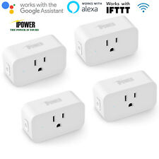 iPower 4-Pack Wifi Smart Plug Outlet Remote Control Work with Alexa&Google&IFTTT