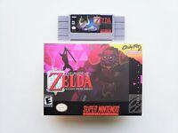 BS Legend of Zelda Ancient Stone Tablets Game / Case - Super Nintendo SNES (USA)