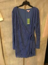 d10939fabb08 NWT Lilly Pulitzer Tiki Wrap Romper Beckon Blue Paradise Found Lace XL
