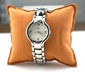 Designer $1000 EBEL E9157421 Stainless Steel Beluga Quartz Watch Box & Papers