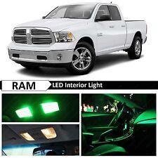 Dodge RAM 1500 Green Interior + License Plate LED Lights Package Kit