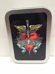 Bon Jovi Rock Band Music 80's Legend Cigarette Tobacco Storage 2oz Hinged Tin