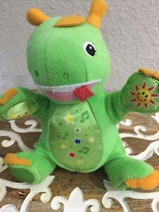DISNEY Musical Twinkle Little Star  Baby Einstein Green Dinosaur Plush Animal