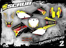 SCRUB Suzuki graphics decals kit RM 85 2002 - 2016 stickers motocross '02 - '16