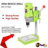 710W MINI Bench Drill Press Workshop Variable Speed Drilling Stand Strong Power