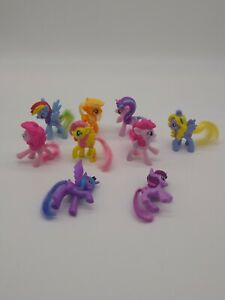 """My Little Pony (Lot 0f 9) 3""""  G4 Molded Hair Mixed Lot Collections Numbered LUNA"""