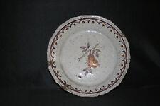 ancienne assiette faïence décors poire Sud-Ouest Samadet? XVIII ème