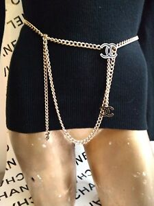 CHANEL NECKLACE CHAINS BELT CC BAG LOGO GOLD COCO CHARMS BRACELET LOGOS JEWELRY