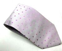 "HUGO BOSS Men's Tie Silver Pink Polka Dot 100% Silk 3.5"" Width 58"" Length"