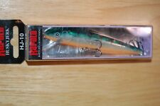 "rapala hj-10 hj10 gp glass perch 4"" 3/8oz husky jerk suspending bass jerkbait"