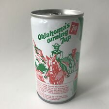 "Vintage 1979 7up ""America's Turning 7 up"" Collectible Soda Can - Oklahoma"