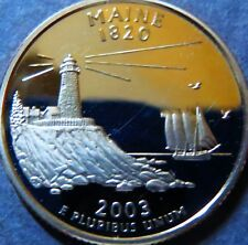 ">MAINE STATE 2003-s QUARTER DOLLAR ""PROOF"" 2003-s San Francisco Mint Coin #3"