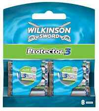 Wilkinson Sword Protector 3 Razor Blades 8 Pack Mens Shaving Genuine