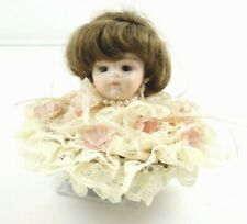 """Doll Head Music Box Rotates and Plays """"Send in the Clowns"""" Hand Made"""