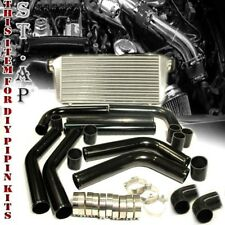 "Jdm Bar&Plate 31""Turbo Intercooler & 2.5"" 8Pc Aluminum Piping Kits Pipe Black/Bk"