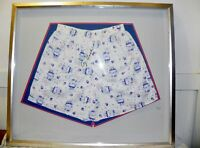 Vote For George HW Bush Autographed 1988 Campaign Promo Boxer Shorts Framed Rare